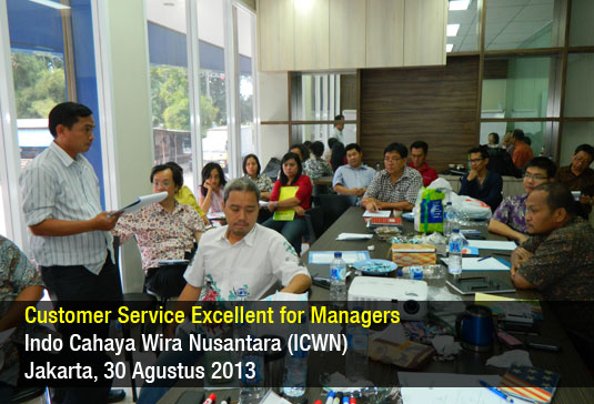Customer Service Excellent for Managers – ICWN – Agustus 2013