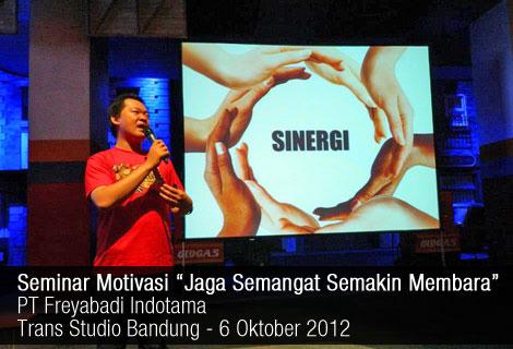 Seminar Motivasi Freyabadi di Trans Studio Bandung 2012