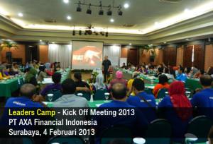 Leaders Camp - Kick Off Meeting - AXA FInancial 2013