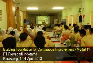 Freyabadi Indotama pelatihan Berani Hidup modul 11 : Getting Organized