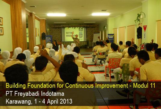 Freyindotama Abadi pelatihan Berani Hidup modul 11 : Getting Organized