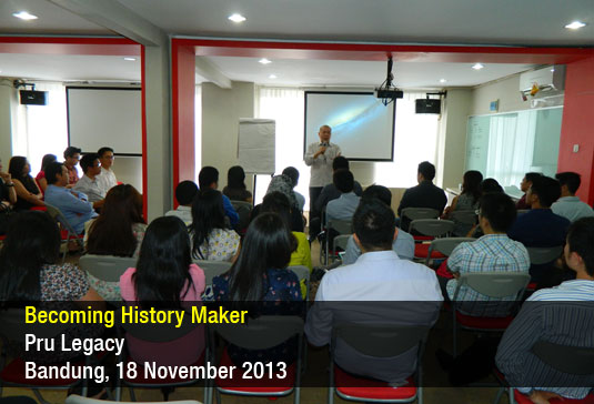 Becoming History Maker – Pru Legacy – Nov 2013